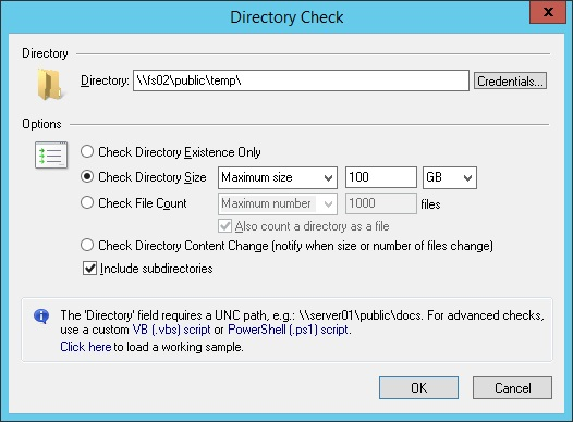 Monitor Directories and Files