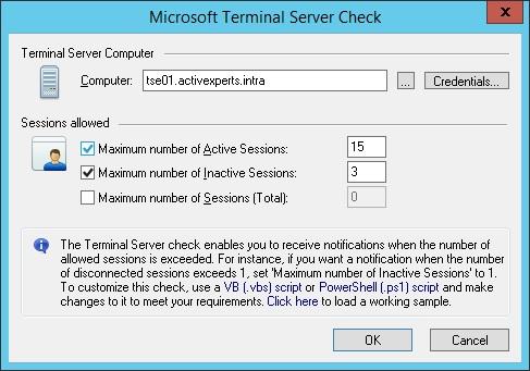 Monitor Microsoft Terminal Server RDP using ActiveXperts