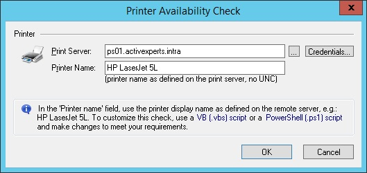 Monitor Printer availability and Printer status